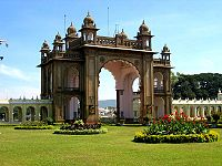 Entrance to the Ambavilas Palace, commonly known as Mysore Palace