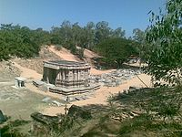 Temple recovered from sand dunes at Talakadu