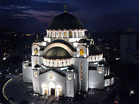 Church of Saint Sava in Belgrade is one of the largest Orthodox churches in the world