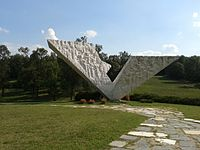 The Interrupted Flight is a part of Šumarice Memorial Park dedicated to the hundreds of children murdered by German Nazis on 21 October 1941 in Kragujevac massacre