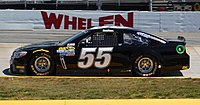 Reed Sorenson in the No. 55 at Martinsville Speedway in 2016
