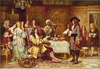 The Birth of Pennsylvania, 1680, by Jean Leon Gerome Ferris – William Penn, holding paper, and King Charles II