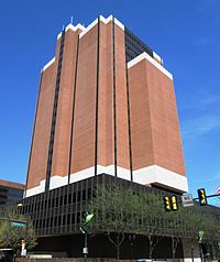 James A. Byrne United States Courthouse, houses the United States Court of Appeals for the Third Circuit and the United States District Court for the Eastern District of Pennsylvania.
