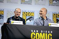 Writers Christopher Markus & Stephen McFeely at the 2019 San Diego Comic-Con