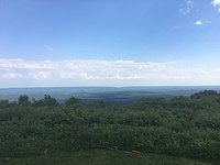The view from Big Pocono State Park at Camelback Mountain