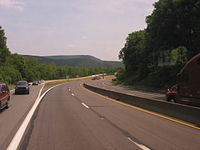 I-80 is the main east–west Interstate Highway in the Pocono Mountains
