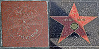 Dion's stars on Canada's Walk of Fame and the Hollywood Walk of Fame