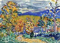 Autumn in New England, watercolor, Maurice Prendergast, c.1910–1913