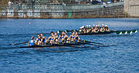 The Middlebury College rowing team in the 2007 Head of the Charles Regatta