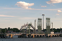 The Port of Portland in Portland, Maine, is the largest tonnage seaport in New England.