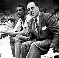 Bill Russell and Red Auerbach of the Boston Celtics