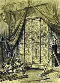 The Gates from the tomb of Mahmud of Ghazni stored in the Arsenal of Agra Fort – Illustrated London News, 1872