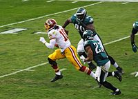 Griffin on a read-option run during a game against the Eagles in 2013