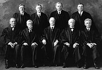 The U.S. Supreme Court in 1925. Taft is seated in the bottom row, middle.
