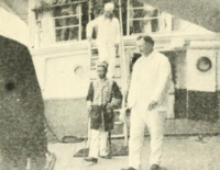 Sultan Jamalul Kiram II with William Howard Taft of the Philippine Commission in Jolo, Sulu (March 27, 1901)