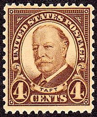 Four-cent stamp issued for Taft (1930)