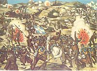 Greek lithograph of the Battle of Kilkis–Lachanas