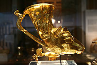 A golden rhyton, one of the items in the Thracian Panagyurishte treasure from Bulgaria, dating from the 4th to 3rd centuries BC