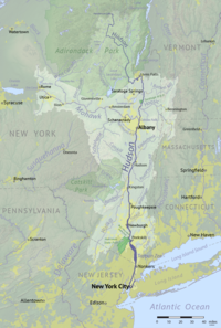 The Hudson River Watershed, including the Hudson and Mohawk rivers
