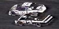 Speed and Dale Earnhardt race at Bristol in the Busch 500, August 1988