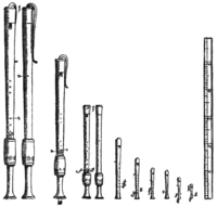 The recorder family, one of the many consorts of instruments available to Renaissance composers