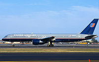 N591UA taxiing on September 8, 2001, three days before it was hijacked