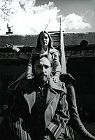 Phillips with Dennis Hopper in Taos, New Mexico, 1970, during editing of The Last Movie
