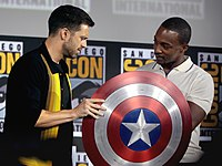 Stan and Mackie at the 2019 San Diego Comic-Con promoting the series