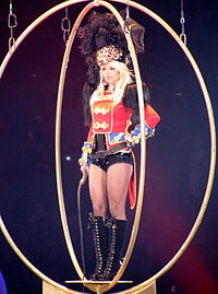 """Spears performing """"Circus"""" as the opening song."""