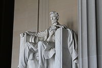 The Lincoln Memorial receives about six million visits annually.