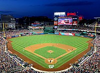 Nationals Park is the home of the Washington Nationals.
