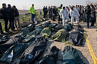 Recovery operations, victims of Flight 752