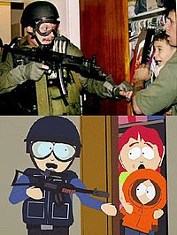 """The Border Patrol raid during the Elián González affair is referenced in """"Quintuplets 2000"""", which aired within the same week the event occurred."""