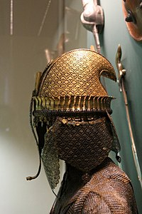 A Maratha helmet and armor from Hermitage Museum, St Petersburg, Russia.