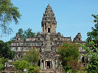 Bakong, one of the earliest temple mountain in Khmer architecture.