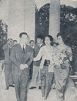 Norodom Sihanouk and his wife in Indonesia 1964.