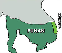 Map of Funan at around the 3rd century.
