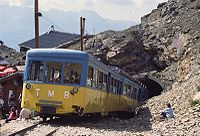 Mont Blanc Tramway (TMB) at the Nid d'Aigle in 1996.
