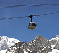 Rotating cabin on the Skyway Monte Bianco, Courmayeur