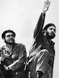 Che Guevara and Fidel Castro, photographed by Alberto Korda in 1961
