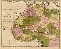 1707 map of northwest Africa by Guillaume Delisle, including the Maghreb After the Middle Ages, the Ottoman Empire loosely controlled the area east of Morocco.