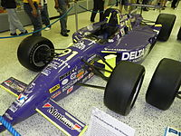 The car Lazier used to win the 1996 Indianapolis 500 at the Indianapolis Motor Speedway Hall of Fame Museum.