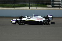 Lazier practicing for the 2008 Indianapolis 500