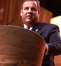 Governor Chris Christie speaking at the 2014 Conservative Political Action Conference (CPAC) in National Harbor, Maryland