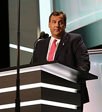 Christie speaking at the 2016 Republican National Convention