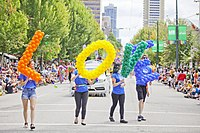 Participants at the 2016 Vancouver Pride parade