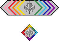 The Canada Pride Citation Insignia of Honour and Badge.