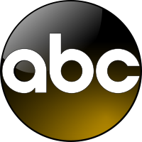 A gold-colored version of the ABC circle, used during primetime.