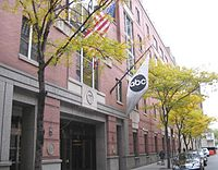 Entrance of ABC's headquarters at 77 West 66 Street