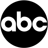 """The """"ABC Circle"""" logo, designed by Paul Rand in (1962–present)"""